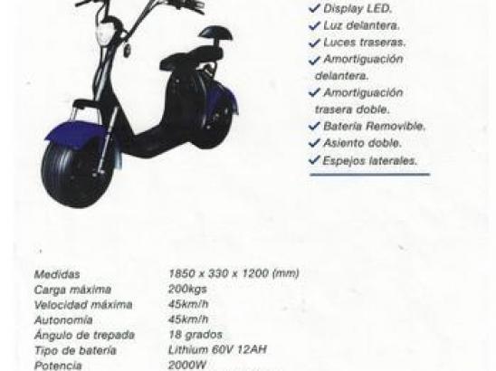 SCOOTER ELECTRICO FUTUR E FX-06 2 asientos